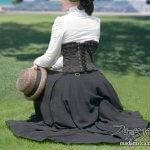 「ヴィクトリア朝的全円スカート」を作ってみた