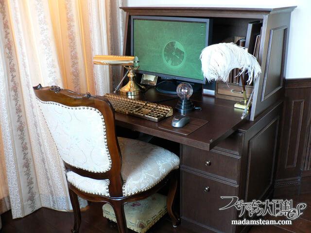 「パソコン机」ヴィクトリアンライティングビューロー
