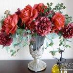 お部屋に花を飾りましょう♪ 造花アレンジメントのDIYインテリア