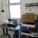 家事室レトロ化改造計画(1)愛用のクラシカルミシンとミシン台