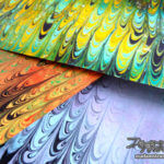 「マーブリングの技法」櫛目模様の紙を作る