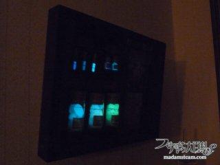 月光で投影した幻燈・きらら舎の蛍光グッズで作った標本箱