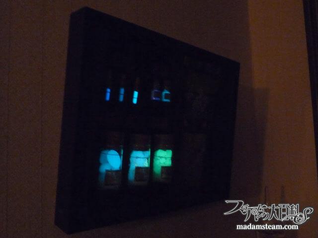 「蛍光標本箱」 月光で投影した幻燈
