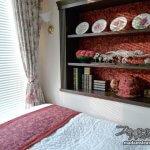 寝室改造記2「寝室の間取りと本棚の壁」
