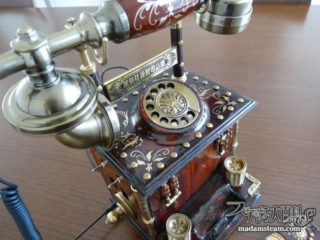 スチームパンク電話機・家電通話(カデンツァ)iPhone充電機