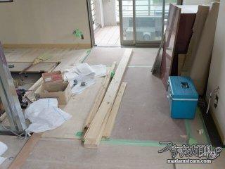 床の施工とショールーム巡り(05/27〜05/28)【蒸気邸改造記5】
