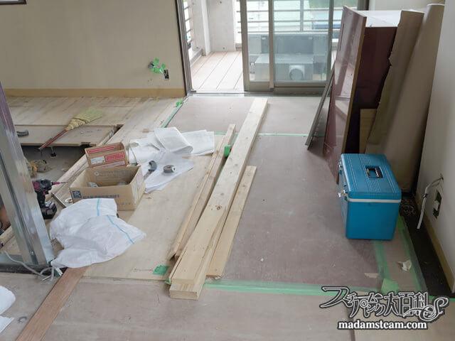 蒸気邸改造記5:床とショールーム(05/27-05/28)