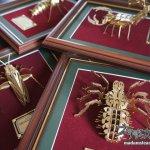 「メタルキット額装」スチームパンクなゴールドメタル昆虫