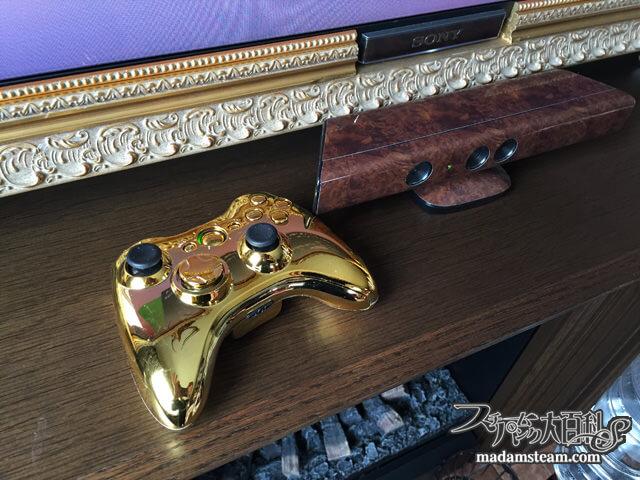 Xbox360コントローラーの分解・清掃・ゴールドカバー