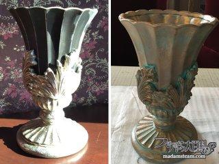 フォーフィニッシュを学ぼう4「青銅(ブロンズ)塗装の花瓶」