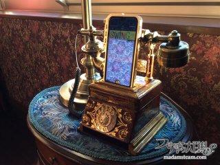 スチームパンクiPhone充電スピーカー「家電通話改」