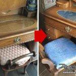 寝室模様替え3:鏡台の椅子をイメージチェンジ・簡単な椅子の張替え方