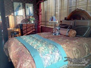 寝室模様替え4:同じ布を使って統一感のあるベッドルーム作り