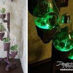 塩ビ管で作るインダストリアル&スチームパンクな多肉植物ランプ