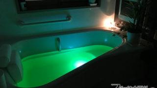 光るお風呂! 幻想的な水中ライト・バスパレット【お風呂改造記1】
