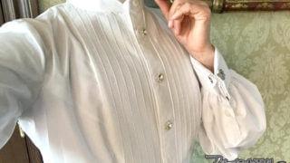 腕を上げてもひきつれない正装用(ダンス用)ドレスシャツ【テーラー五十嵐(2)】