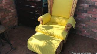 温室でくつろぐために・キルティングのソファカバーを作りました