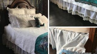 シングルシーツ2枚を材料にして作る、エレガントなベッドスカート