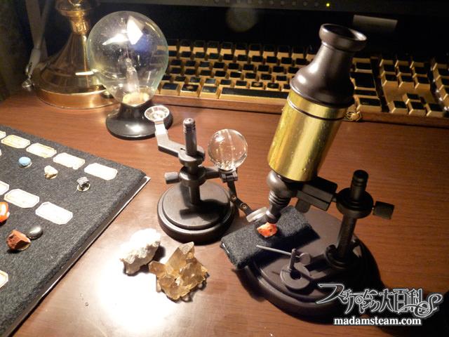 アンティーク顕微鏡
