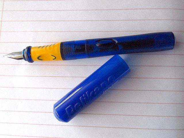 万年筆とブロッター
