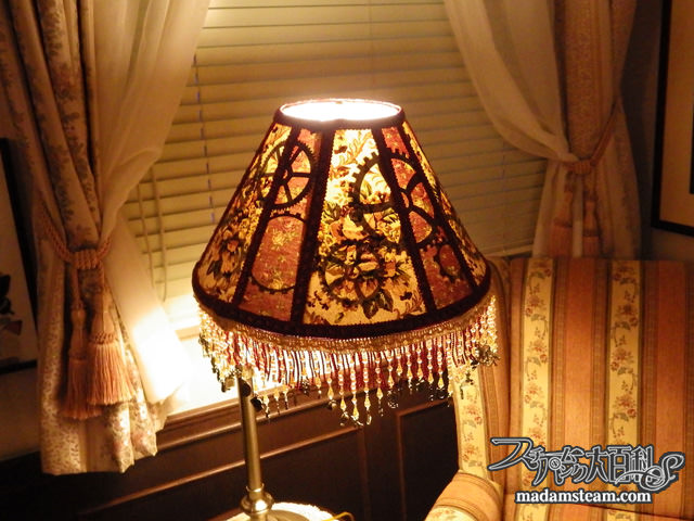 Steampunk lamp shade