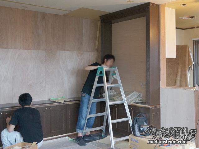 飾り棚と収納棚