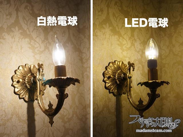 壁の照明とLED電球