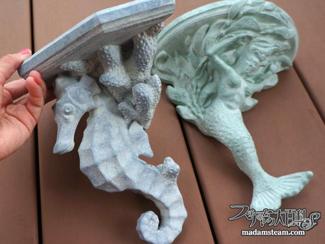 人魚とタツノオトシゴの棚