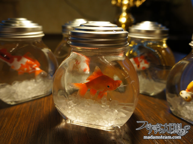 金魚(フィギュア)の瓶詰め