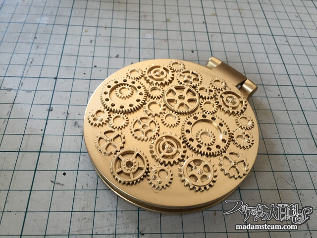 歯車のコンパクトミラー