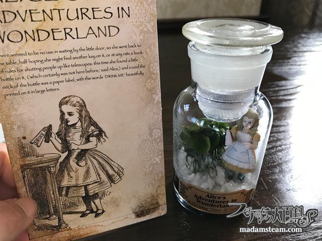 薬瓶とアリスのミニテラリウム