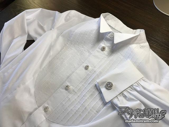 正装用ウイングカラードレスシャツ