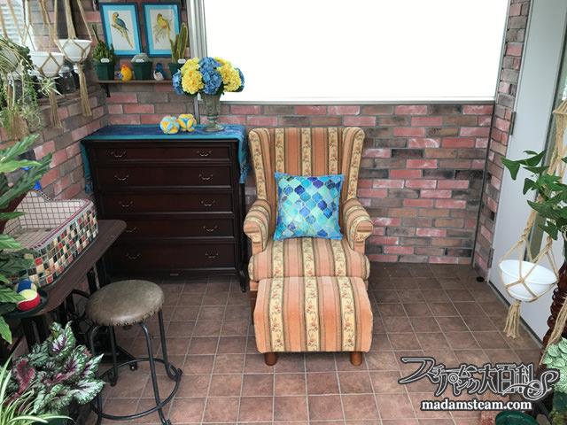 温室のソファカバー
