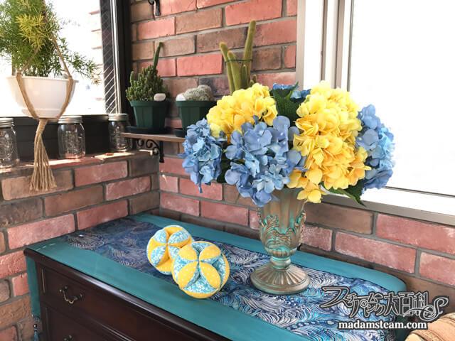 造花のフラワーアレンジメント