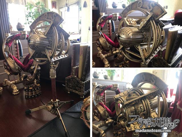steampunk retro microphone