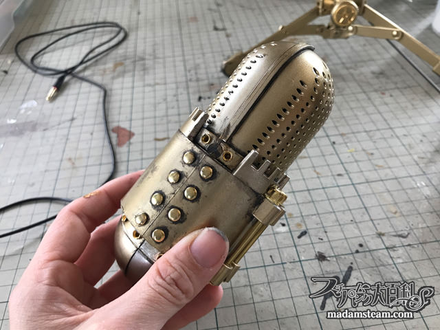 steampunk retro microphone