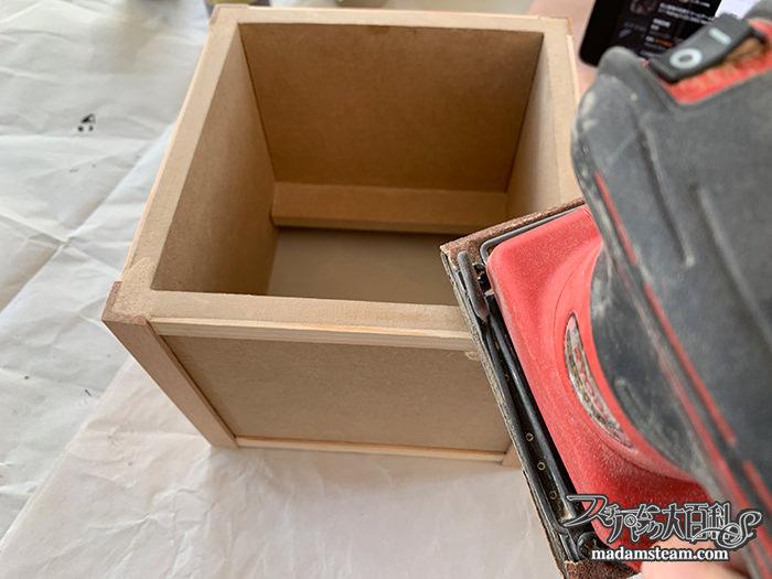 歯車モチーフの植木鉢カバー