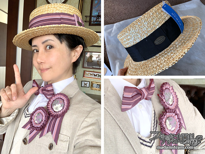 田中帽子店のカンカン帽と小物