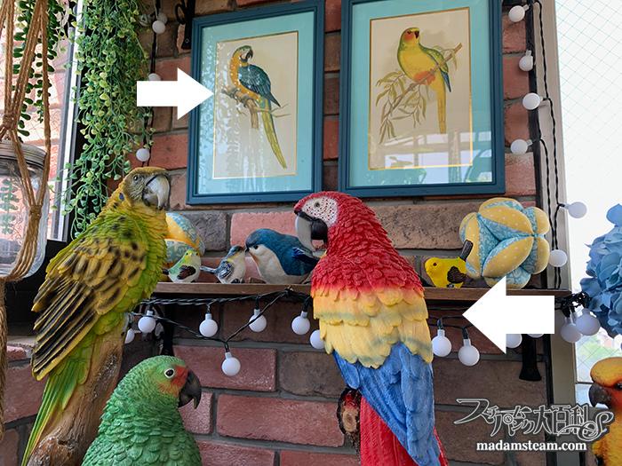 リアルな鳥のレジンフィギュアコレクション