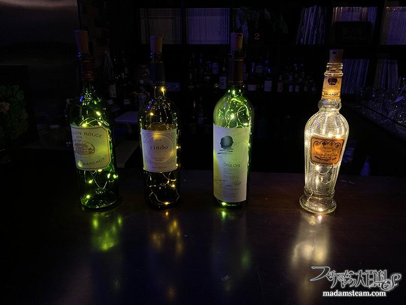 ワインボトルライト&お酒の棚ライト