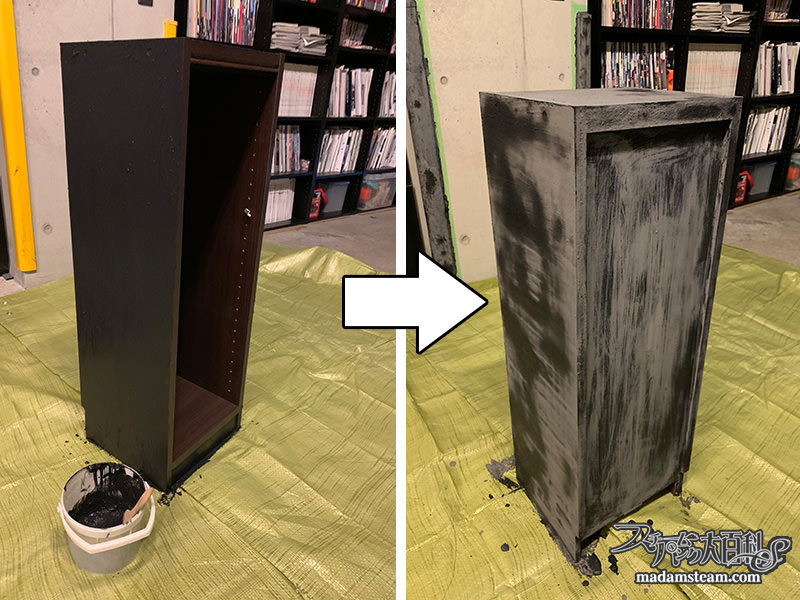 木製本棚を鉄製本棚に変える