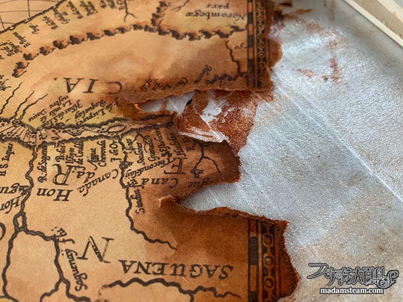 蝋引きの宝の地図の作り方