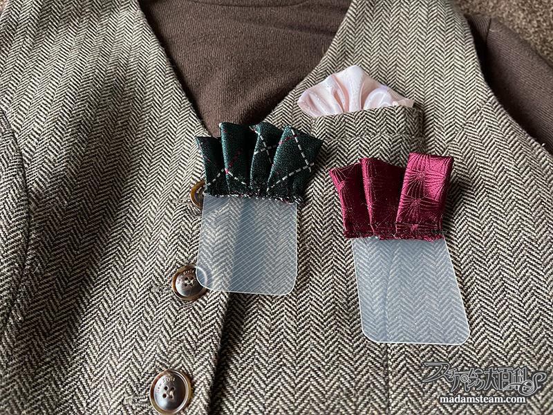 ネクタイの端切れで作るチーフ