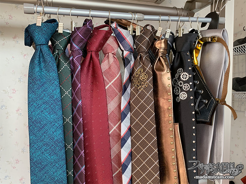 ワンタッチネクタイの整理方法